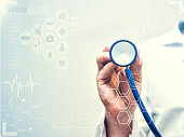 Healthcare Medical concept, Doctor with stethoscope
