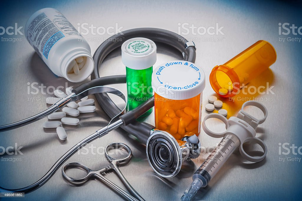 Healthcare medical tools of the trade stock photo