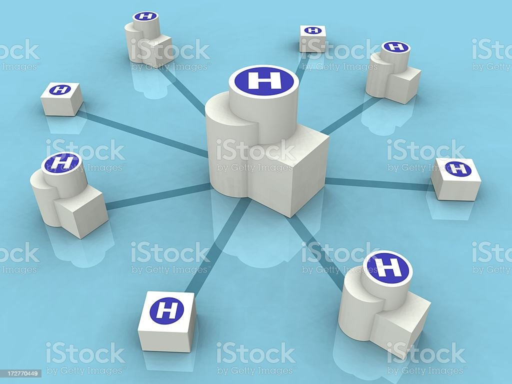 Healthcare Network royalty-free stock photo