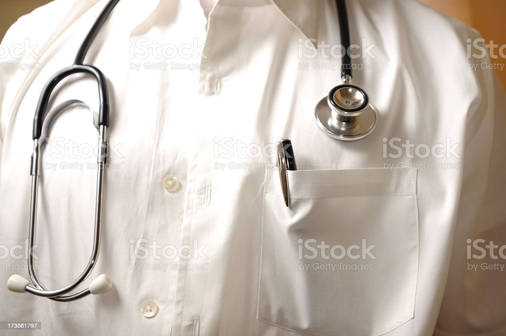 Healthcare Professional close up and head on stock photo