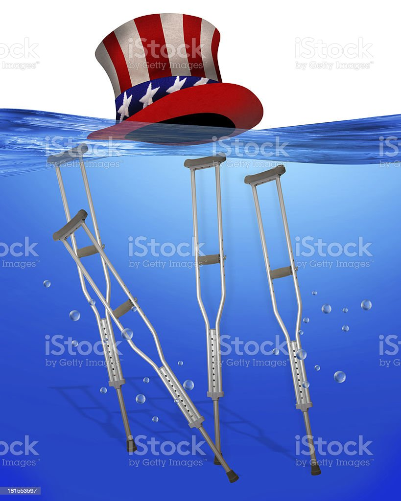 Healthcare underwater. royalty-free stock photo