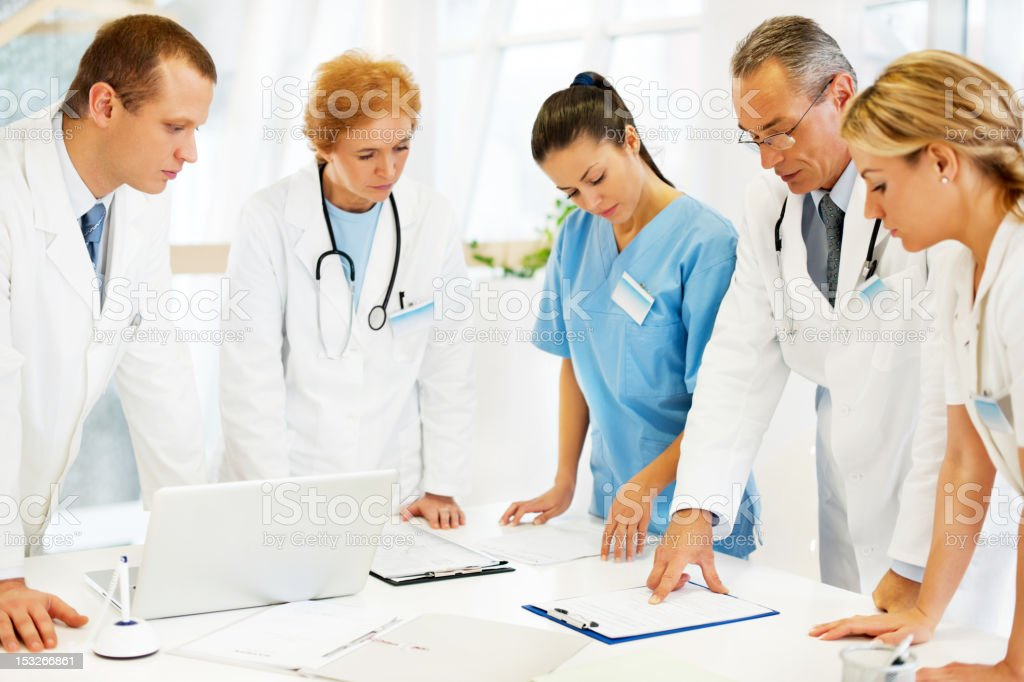 Healthcare Worker in a Doctor's Office. stock photo