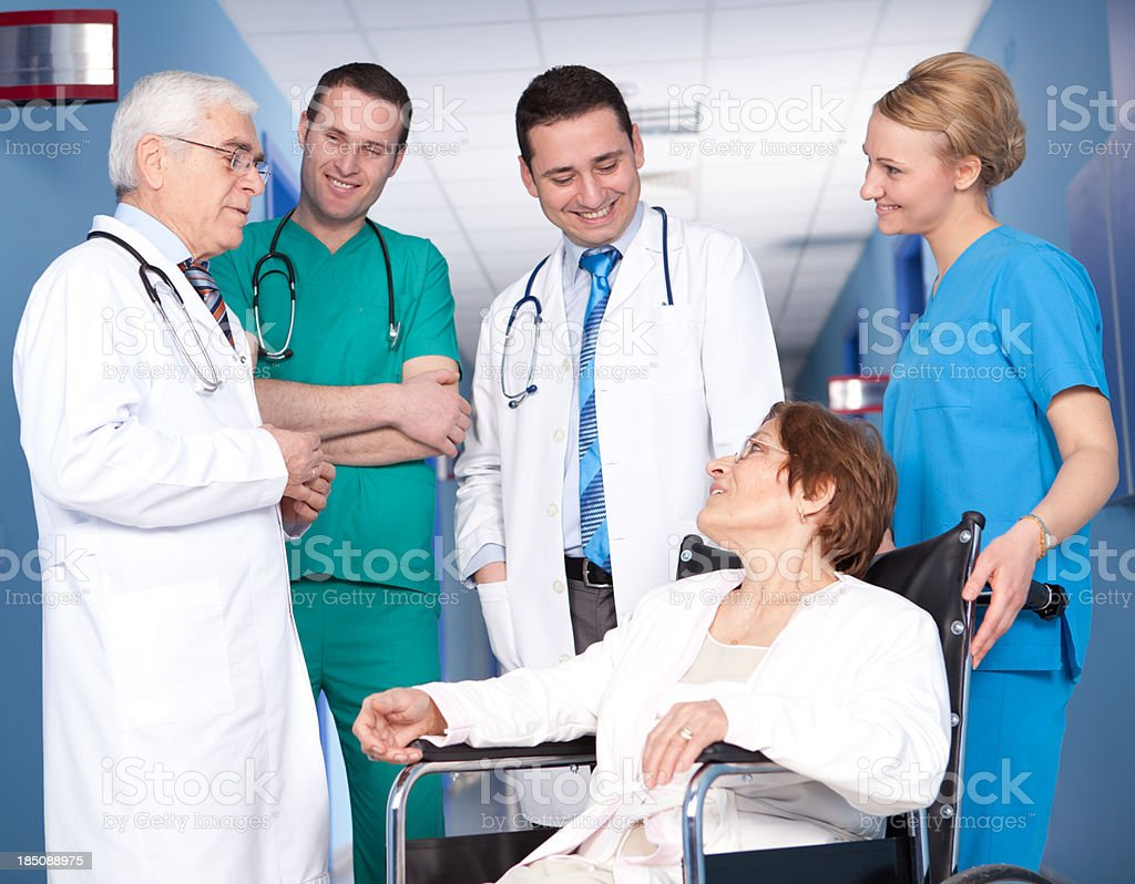 Healthcare Workers and Patient royalty-free stock photo
