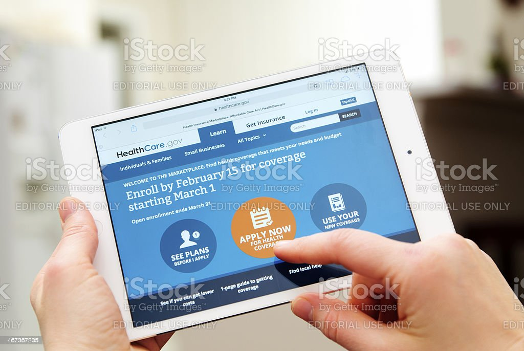 Healthcare.gov stock photo