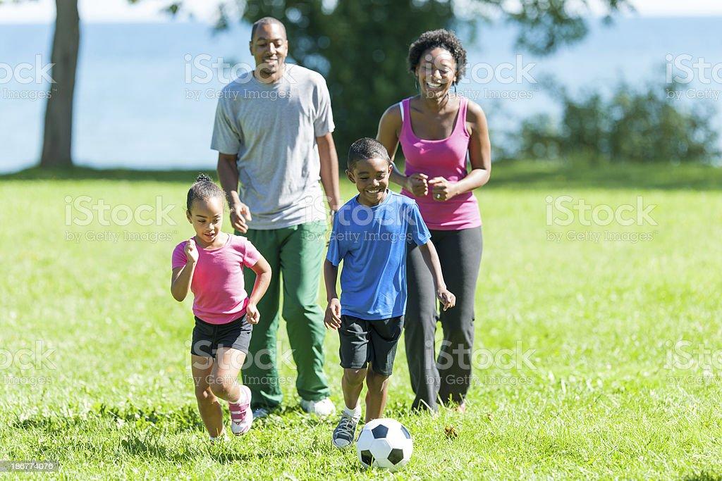 Healthy Active Family royalty-free stock photo