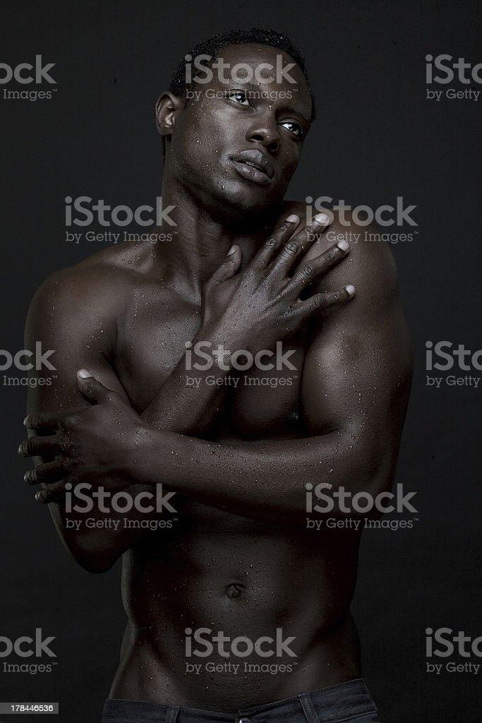 Black shemail anal masturbation