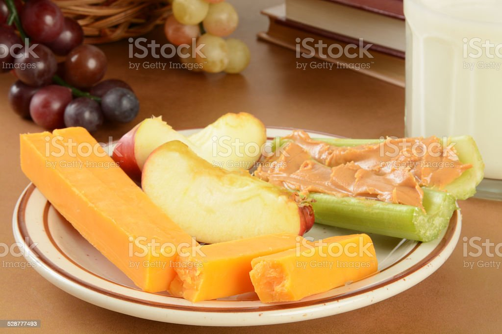 Healthy after school snack stock photo