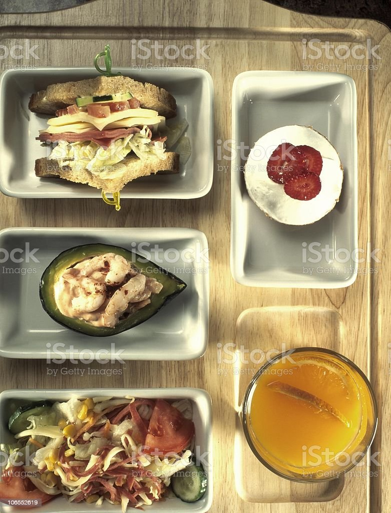 healthy airline food royalty-free stock photo