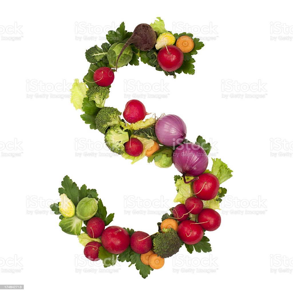 Healthy alphabet Letter S royalty-free stock photo