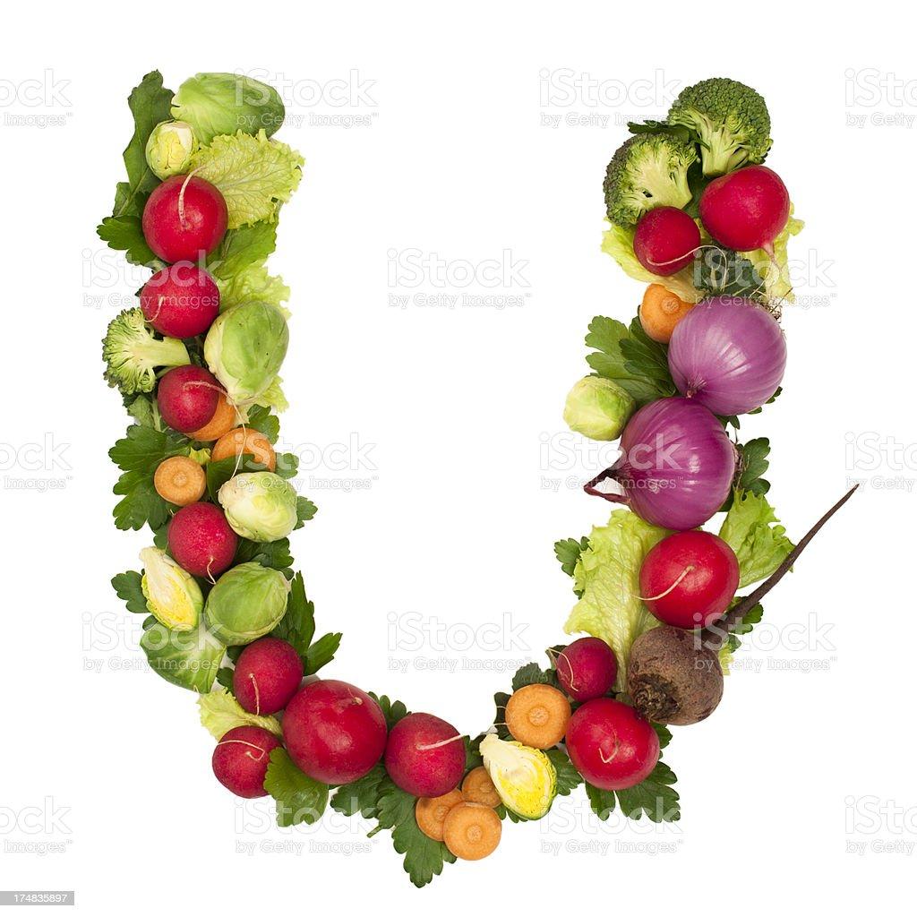 Healthy alphabet Letter U royalty-free stock photo
