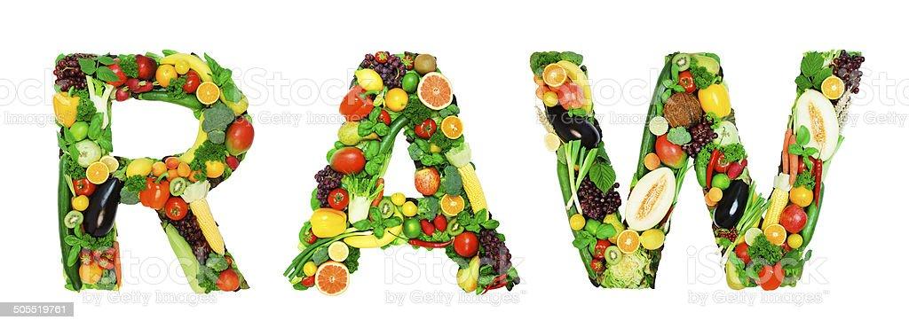 Healthy alphabet - RAW stock photo