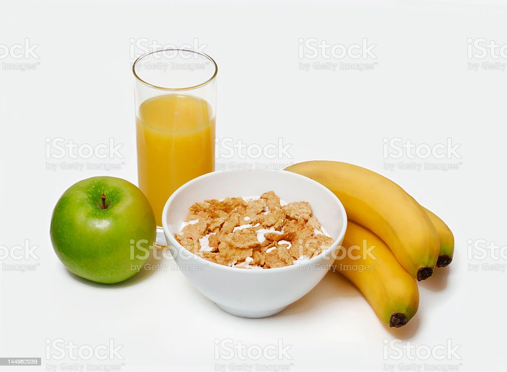 Healthy and light breakfast background, Food ingredients and fruit. royalty-free stock photo