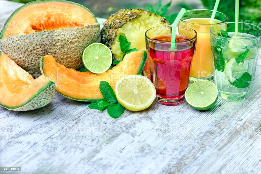 Healthy and refreshing beverages-drinks stock photo