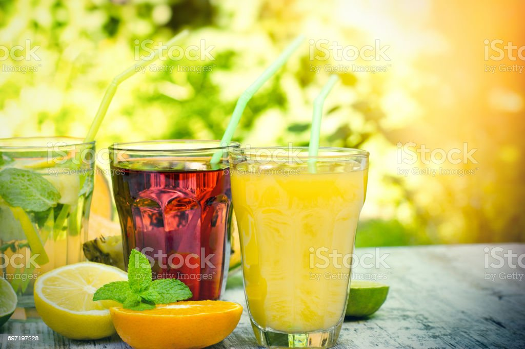 Healthy and refreshing drinks-beverages stock photo