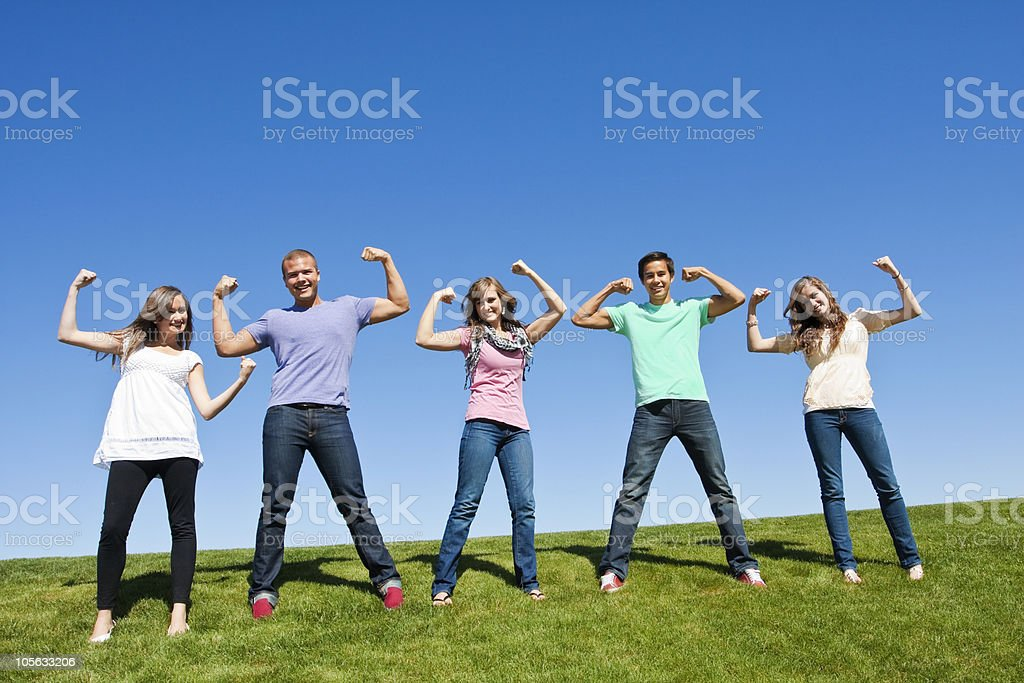Healthy and Strong Young Adults stock photo