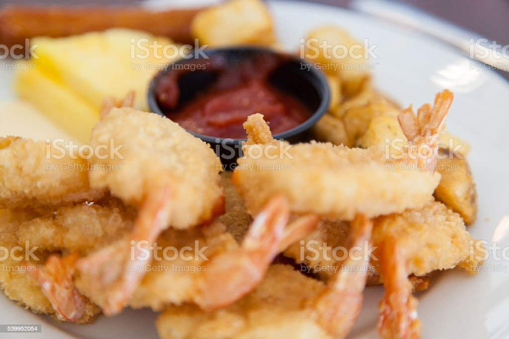 Healthy and unhealthy food mix stock photo