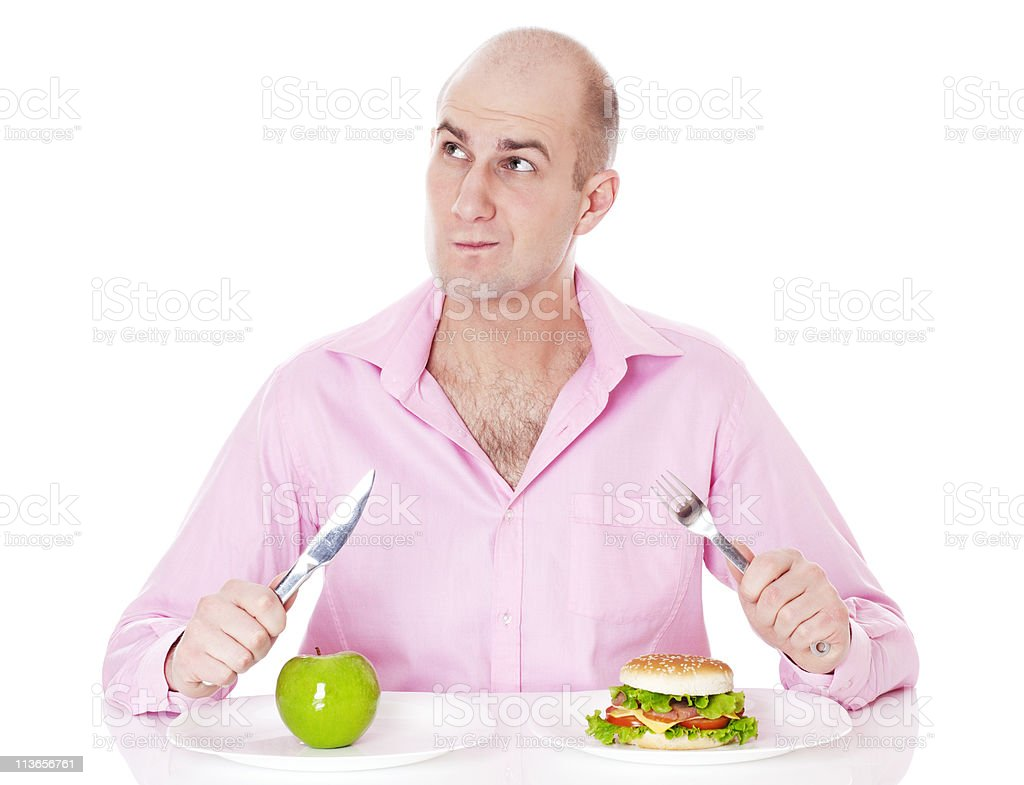 Healthy and unhealthy food. royalty-free stock photo