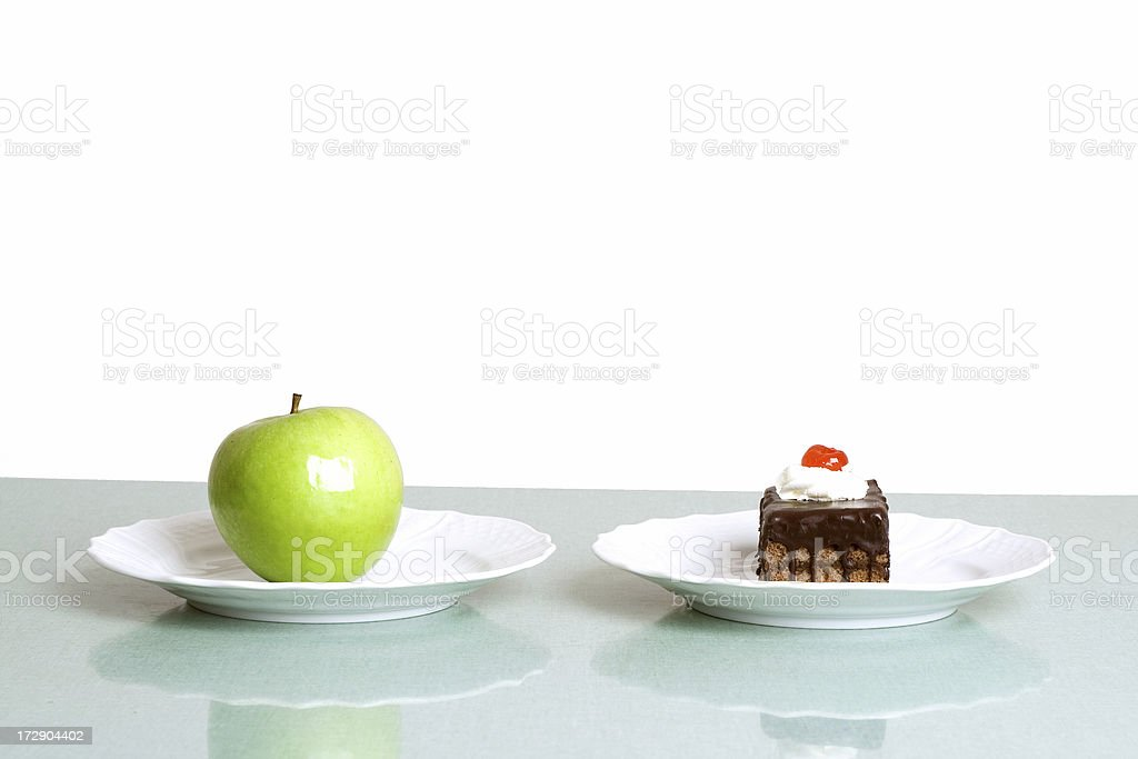 Healthy and unhealthy food royalty-free stock photo