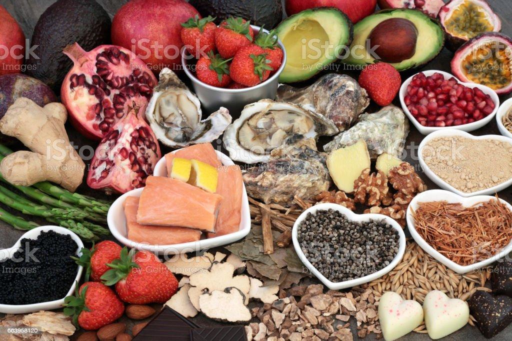 Healthy Aphrodisiac Food stock photo