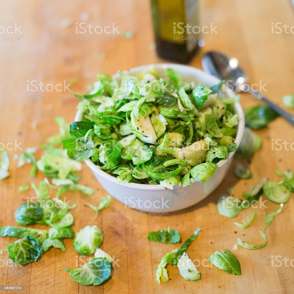 Healthy appealing brussel sprouts stock photo