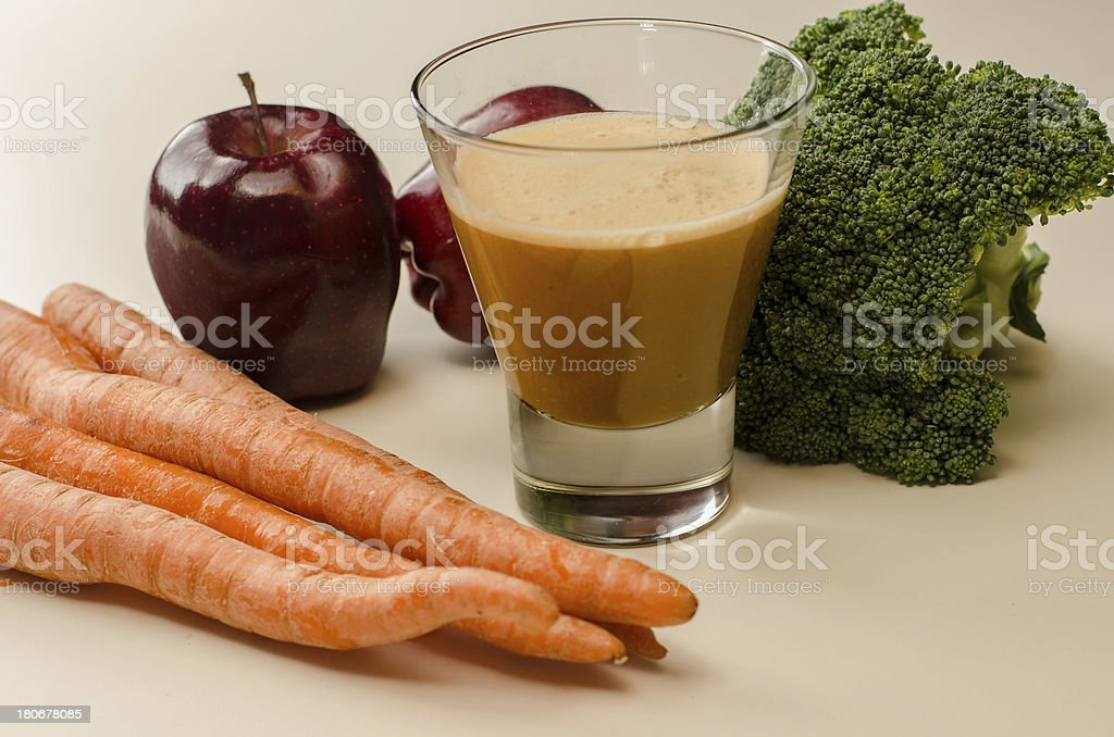 Healthy Apple Carrot and Broccoli Juice royalty-free stock photo