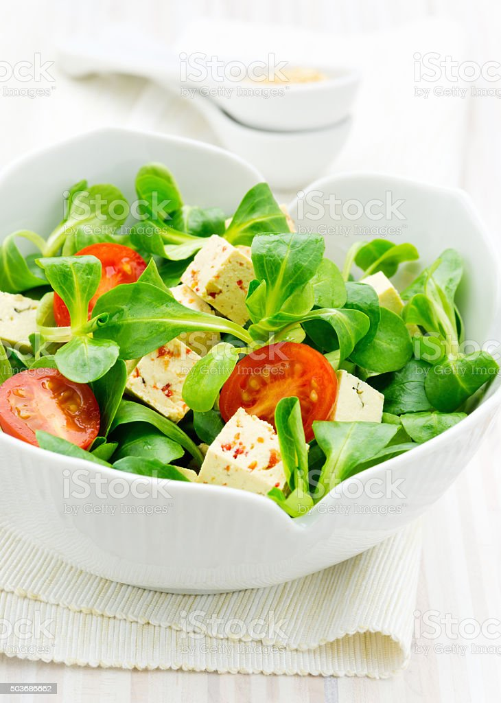 Healthy Asian style salad stock photo