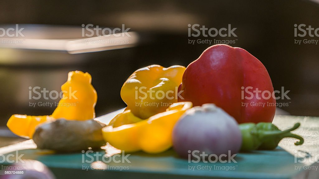 healthy assortment of fresh vegetables stock photo