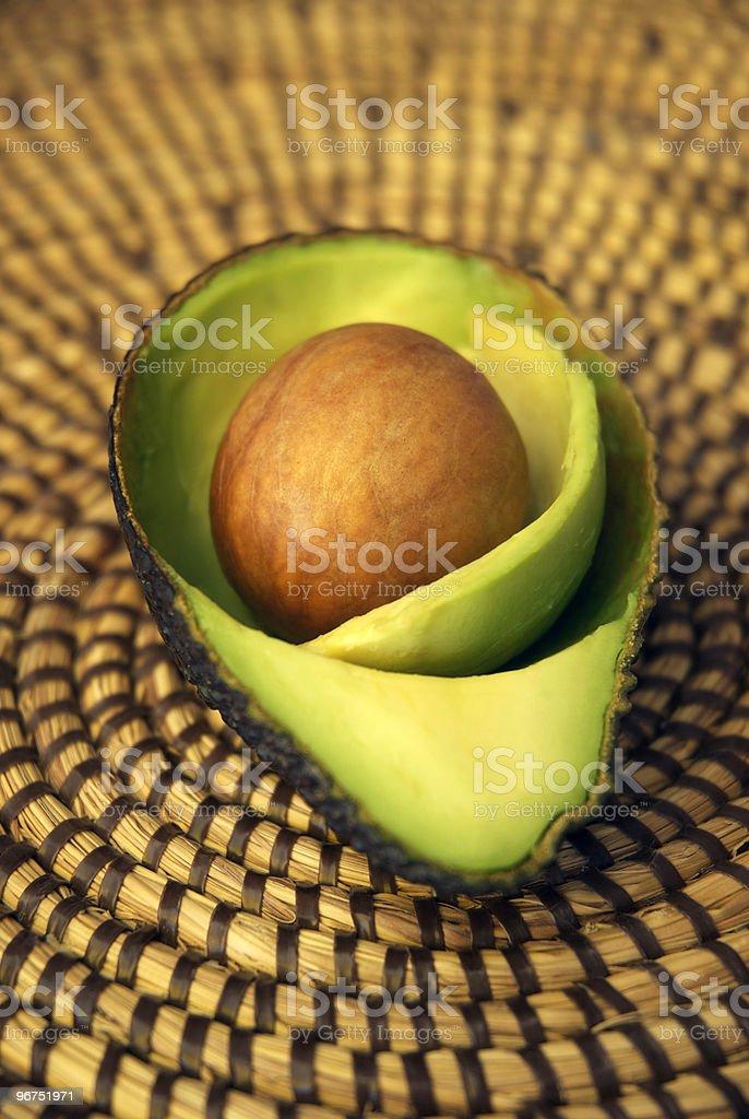 Healthy avocado snack royalty-free stock photo