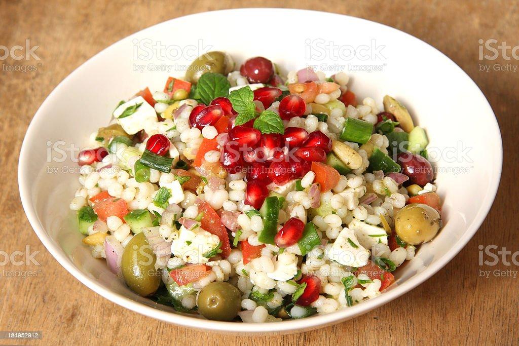 Healthy barley salad royalty-free stock photo