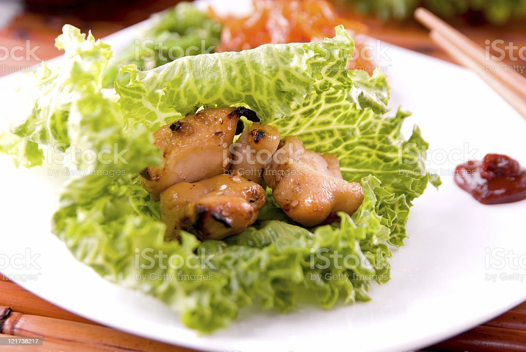 Healthy BBQ Chicken royalty-free stock photo