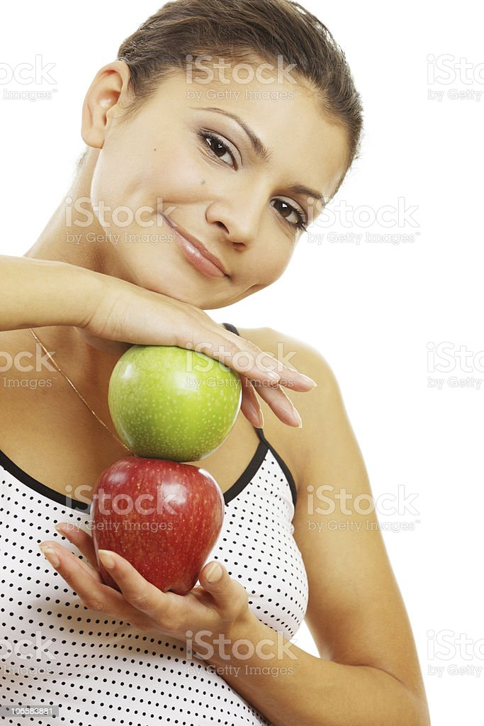 Healthy beautiful woman royalty-free stock photo