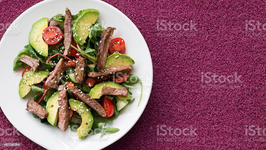 Saludable ensalada de carne de res foto de stock libre de derechos
