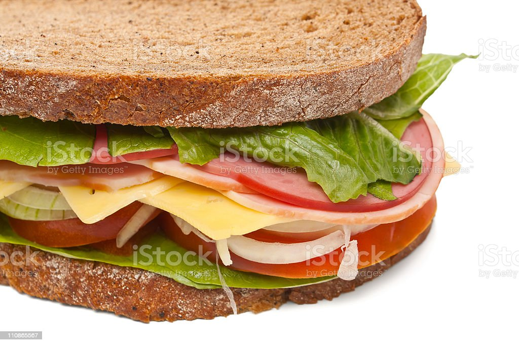 healthy big sandwich royalty-free stock photo