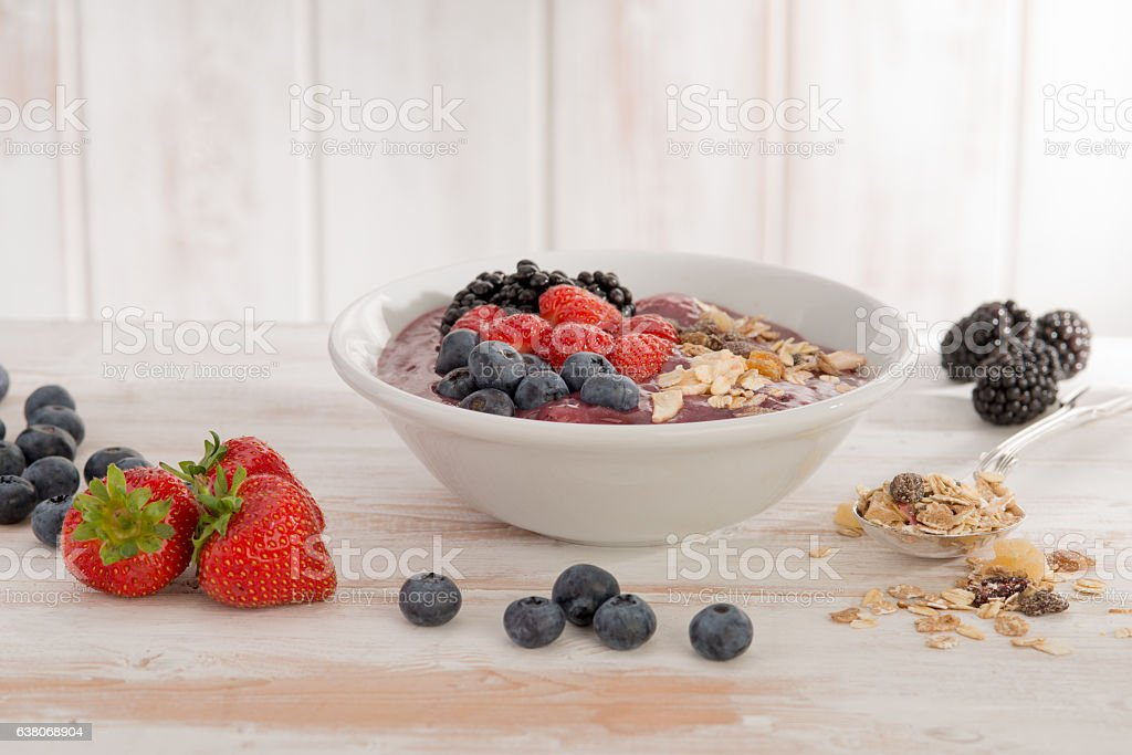 Healthy Bircher Muesli stock photo