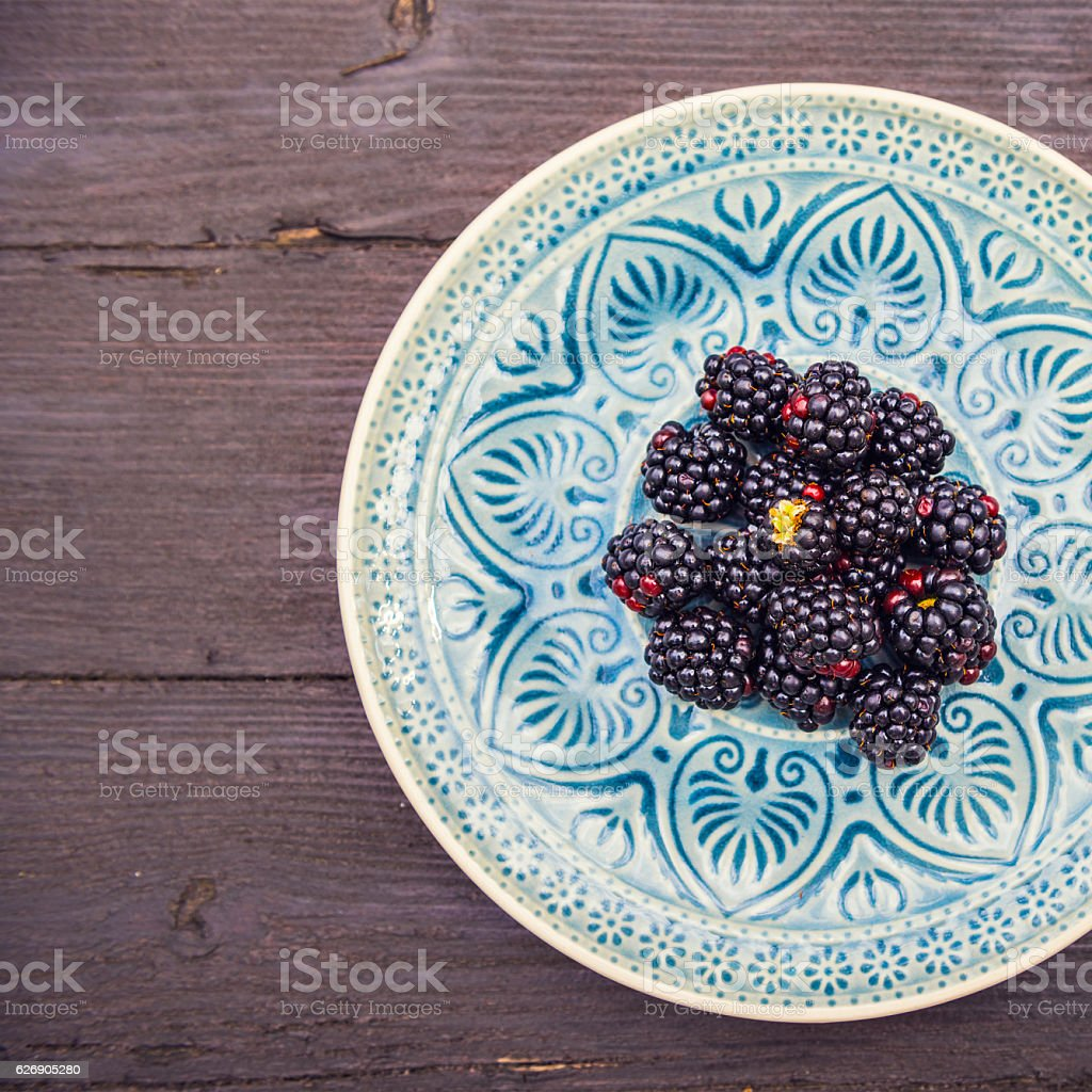 Healthy blackberries stock photo