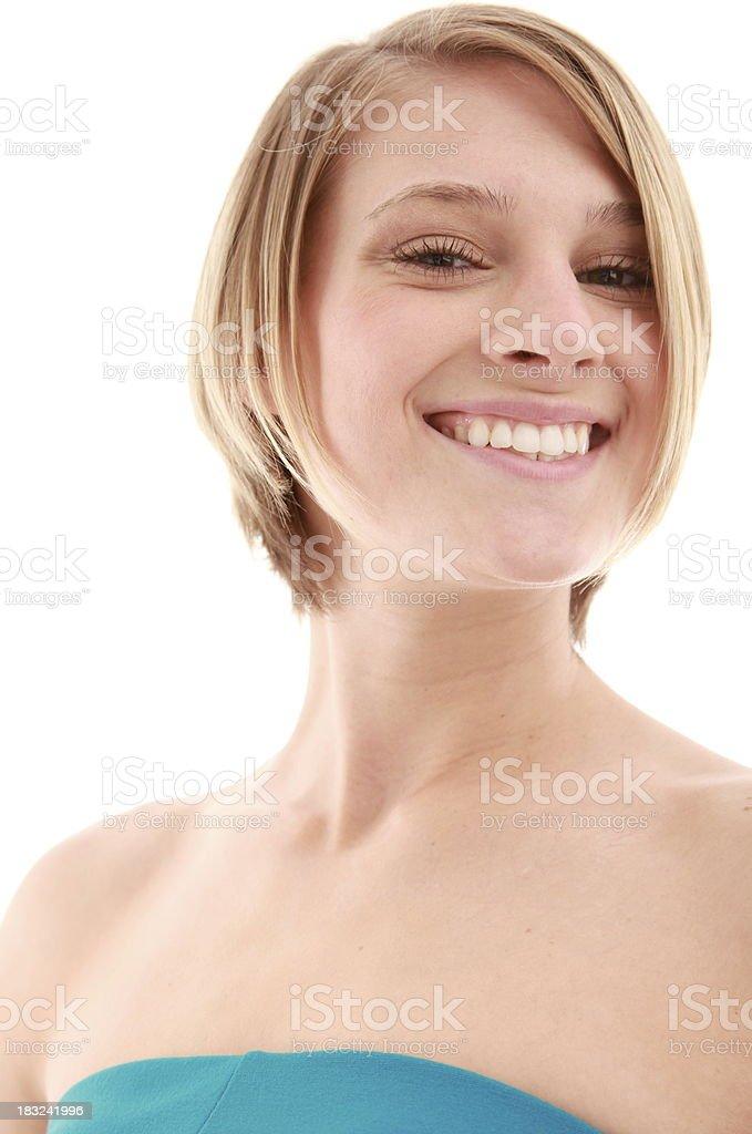 Saludable rubia primer plano foto de stock libre de derechos