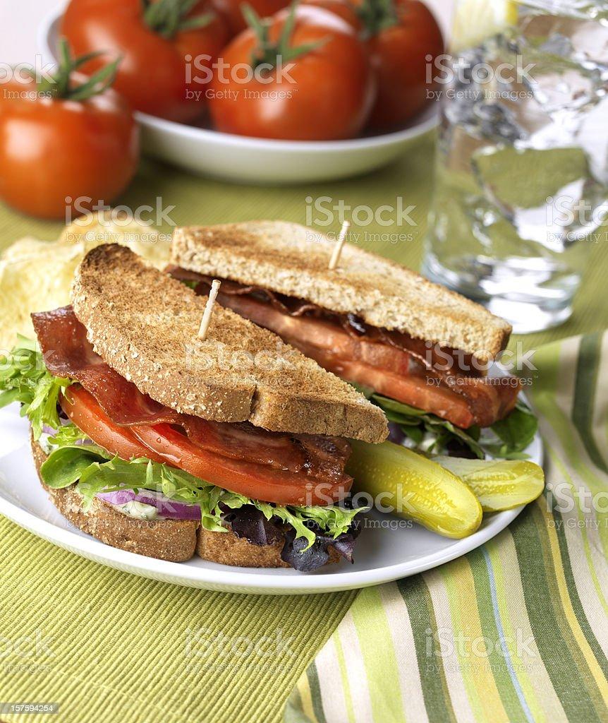 Healthy BLT Sandwich stock photo