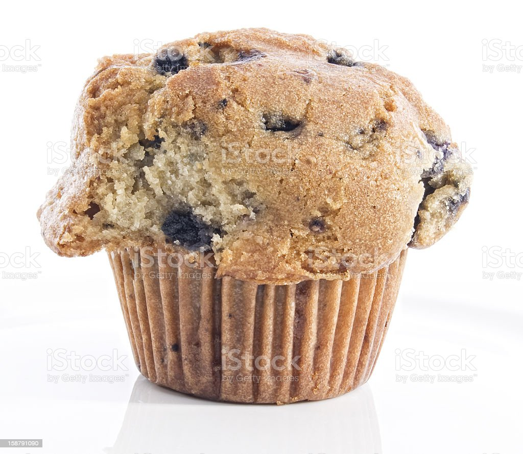 Healthy Blueberry Whole Grain Muffin royalty-free stock photo