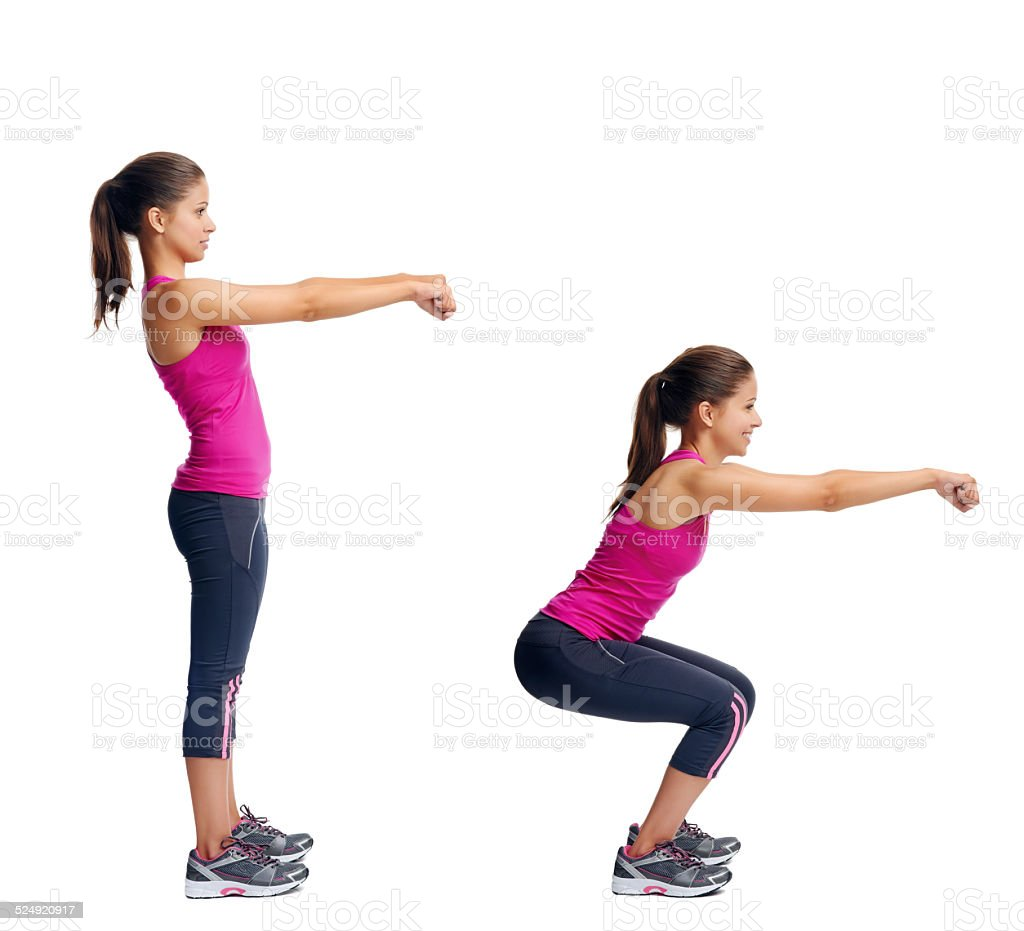 healthy body woman set stock photo