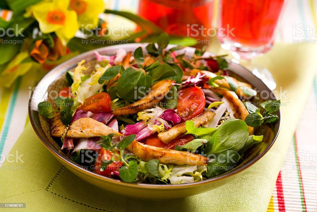 A healthy bowl of Caesar salad royalty-free stock photo