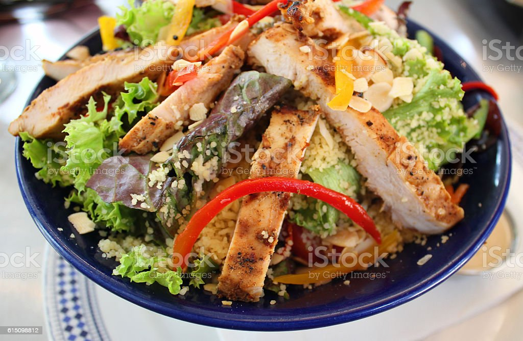 Healthy Bowl of Chicken Salad - stock photo stock photo