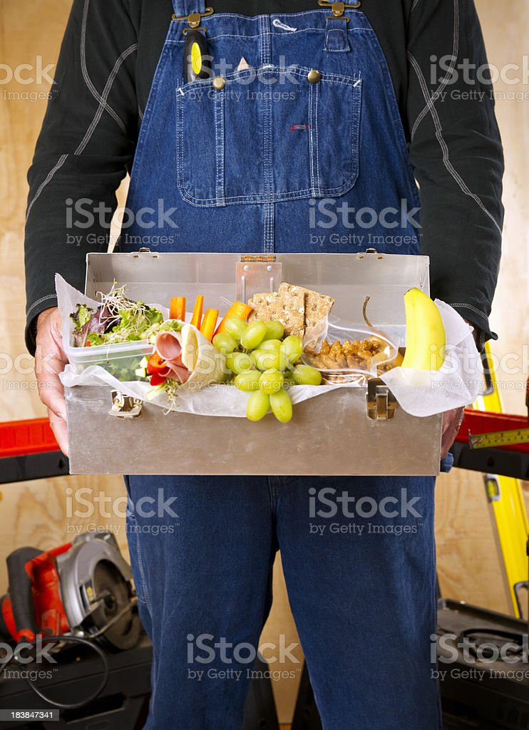 Healthy box lunch royalty-free stock photo