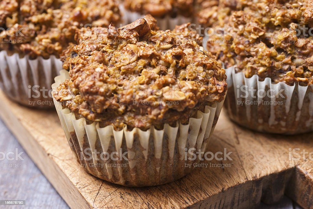 Healthy Bran Quinoa Muffins stock photo