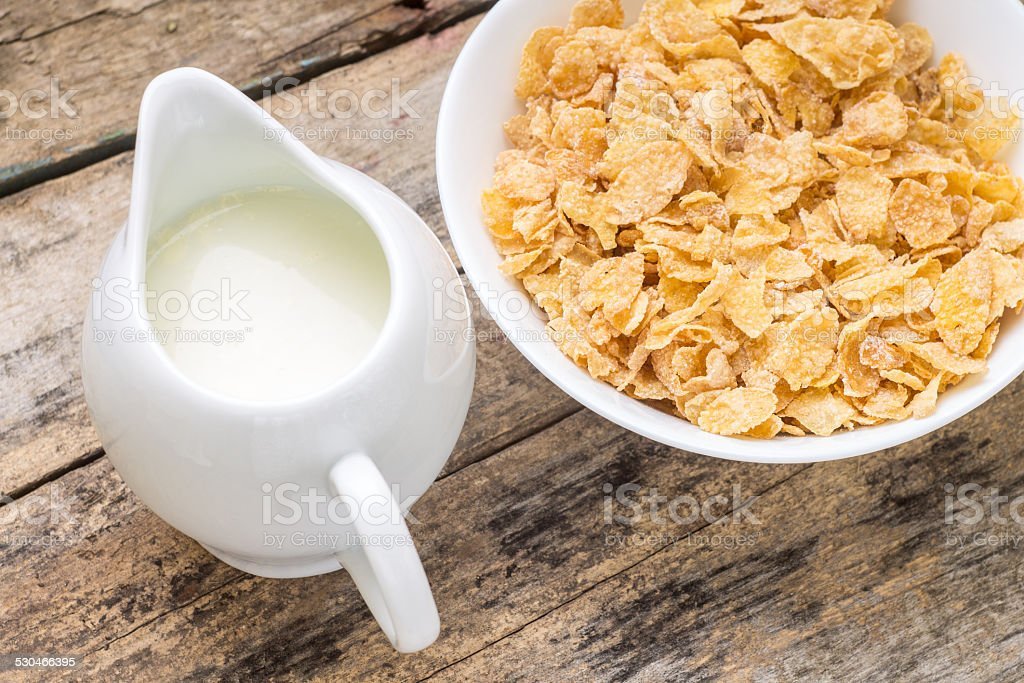 Healthy breakfast background. stock photo