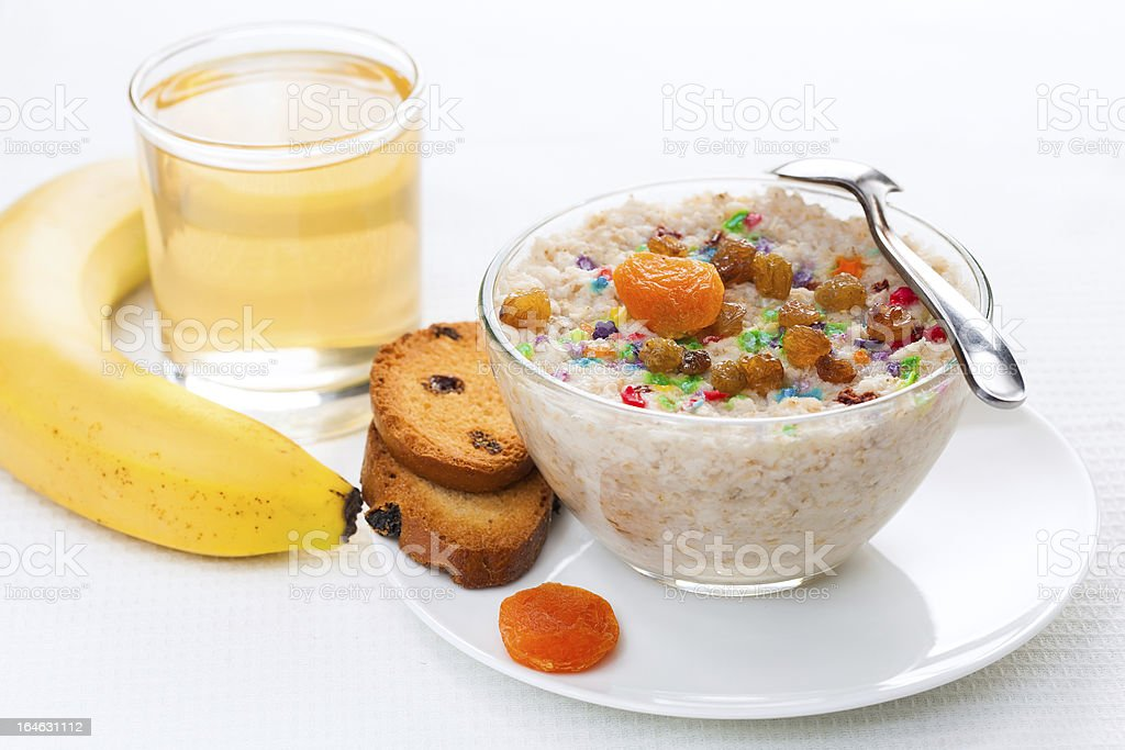 healthy breakfast on a light background royalty-free stock photo