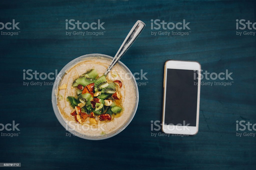 Healthy breakfast on the table stock photo