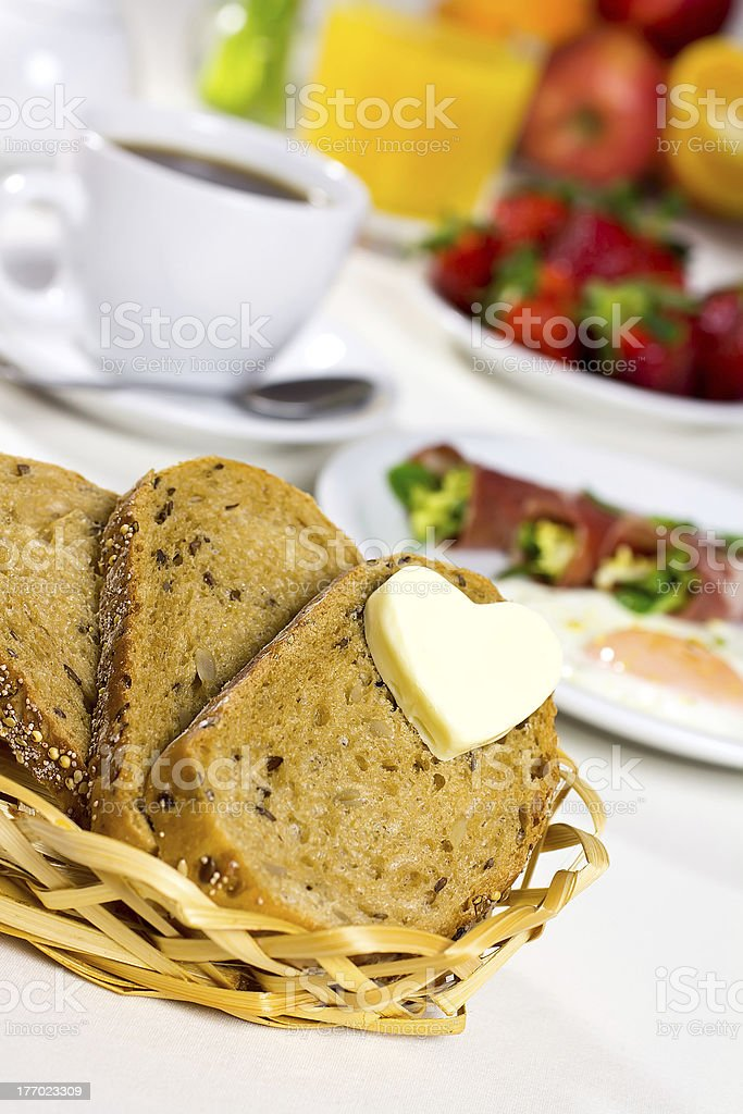 Healthy breakfast. royalty-free stock photo