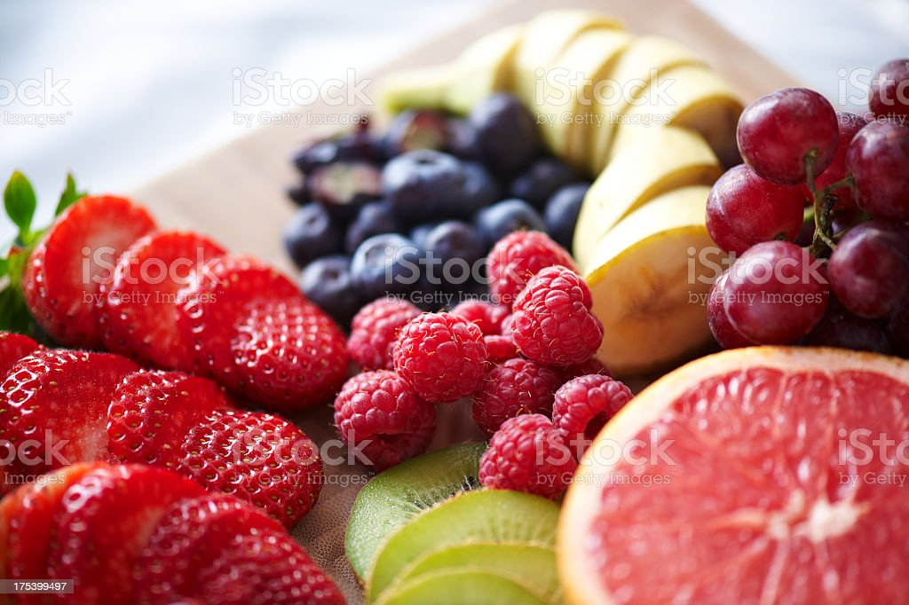 Healthy breakfast with fruits and berries royalty-free stock photo