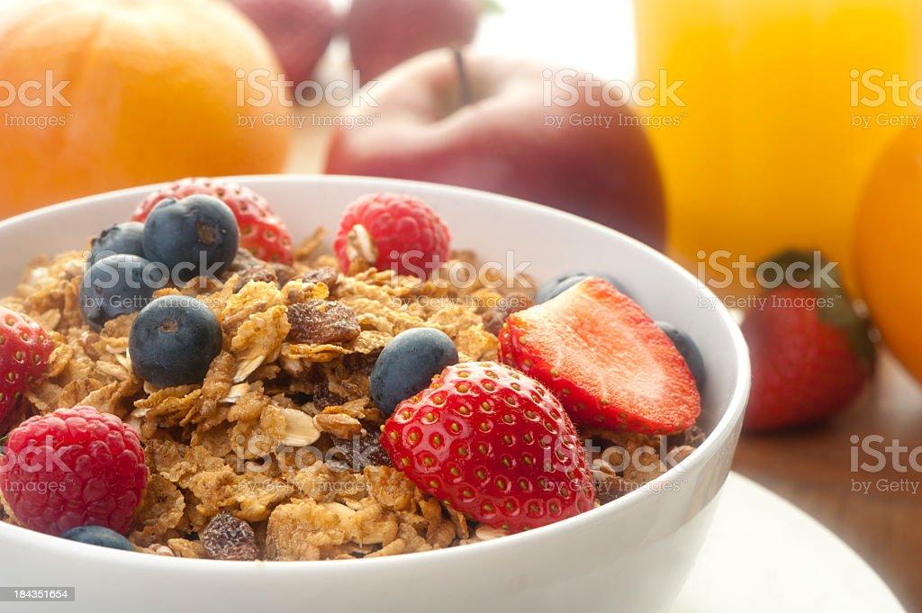 Healthy breakfast with muesli royalty-free stock photo