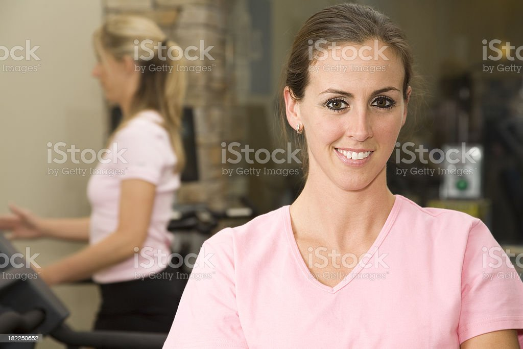 Healthy Breast Cancer Survivor at the Fitness Center royalty-free stock photo